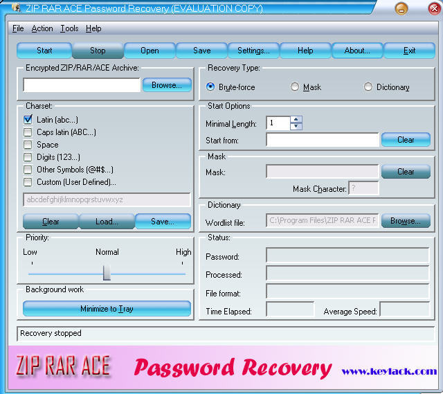 Скачать бесплатно KRyLack Archive Password Recovery 3.47 Rus, Cracked.
