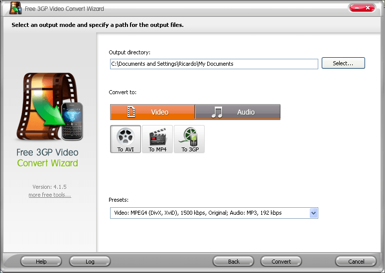 Screenshots of domino 3gp video converter 120712