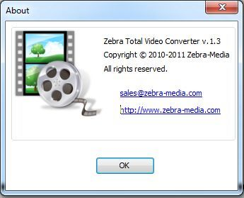 Zebra Media Total Video Converter 1.8 crack. Лицензия: ShareWare Язык: Eng