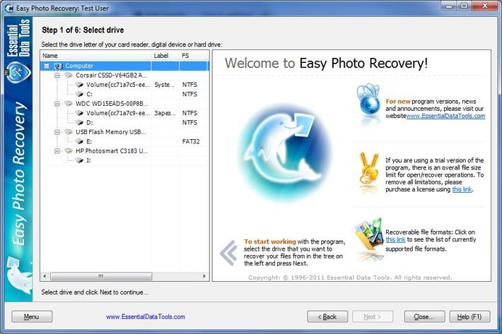 Easy Photo Recovery 6.4 Build 923 Datecode 25.04.2012.