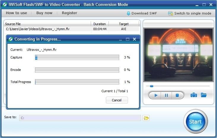 IWisoft Flash SWF to Video Converter.