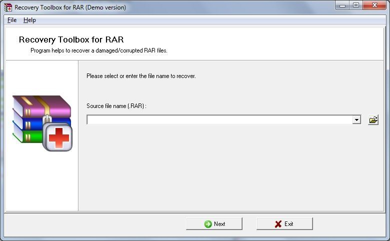 Free RAR Recovery Toolbox screenshot file.