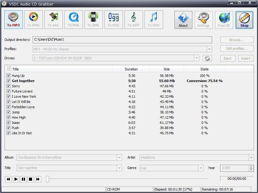 Audiograbber - это превосходная программа для копирования музыки с аудио -C