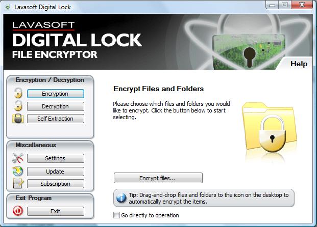 Lavasoft Digital Lock - программа для шифрования данных, позволяющая